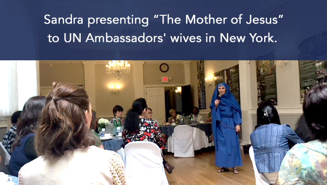 Sandra performs 'The Mother of Jesus' for UN Ambassador Wives in New York City.